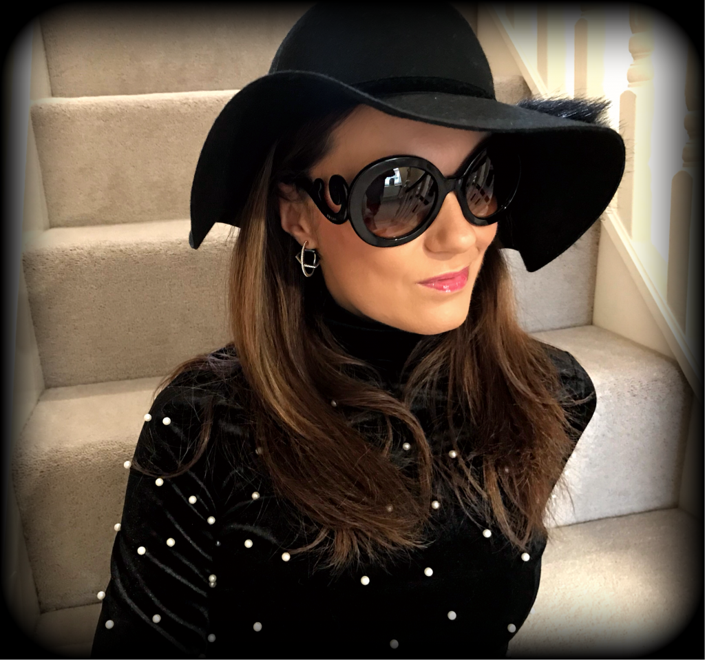 10 REASONS TO WEAR A HAT | Qupid Metal Heel Sock Boots | Fashion Union High Neck Top In Velvet With Pearl Embellishment | Prada Baroque sunglasses