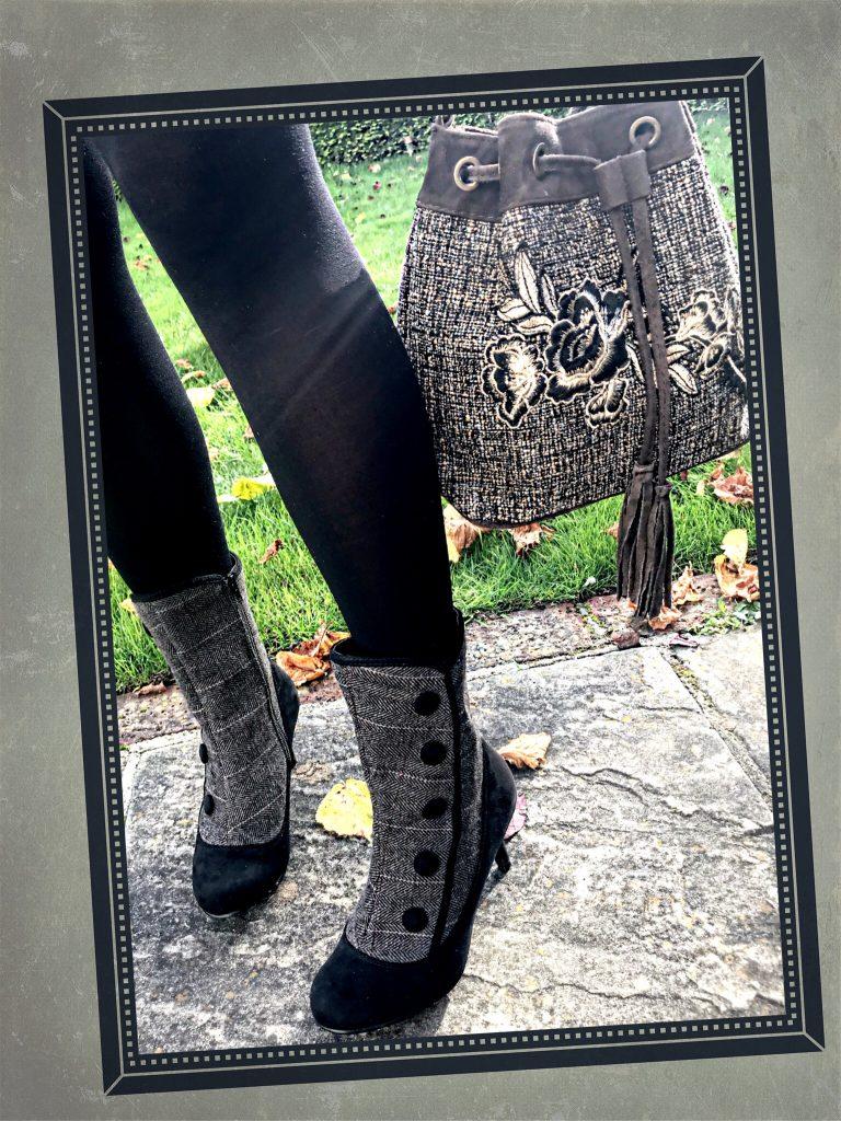 Joe Browns Super Smart Jacket | Joe Browns Super Smart Skirt | Joe Browns Bargello Appliqué Bag | Joe Browns Very Vintage Cloche Hat | Joe Browns Enchanting Tweedy Ankle Boots