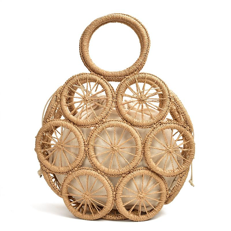 Elegant Duchess Boutique Round Straw Bag - more styles available