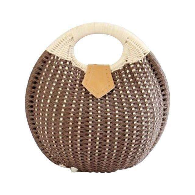 Elegant Duchess Boutique Round Summer Beach Straw Bag - more colours available
